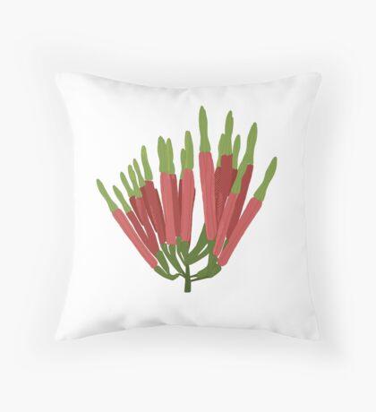 Amylotheca dictyophleba - Scrub Mistletoe Throw Pillow