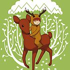 Deer Rider by lisamax