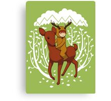 Deer Rider Canvas Print