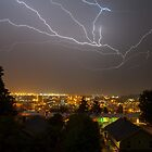 Crazy Lightning - Tacoma, WA U.S.A. by Vincent Frank