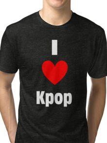 I Heart Kpop Shirt (WHITE) Tri-blend T-Shirt
