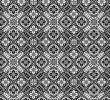 Pixel Pattern Black and White iPhone & iPod Case by Milla Chaney