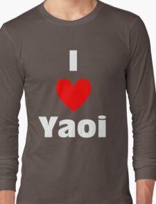 I Heart Yaoi Shirt (WHITE) Long Sleeve T-Shirt