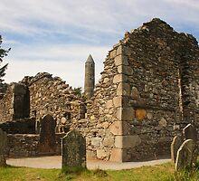 Ruined Church, Glendalough by Adrian McGlynn