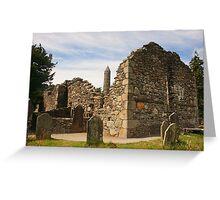 Ruined Church, Glendalough Greeting Card