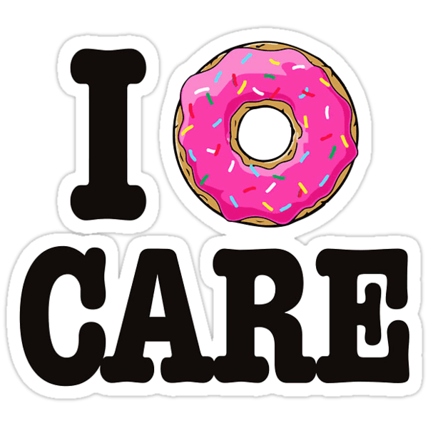 """I Donut Care"" Stickers by Morgan Turrentine 