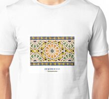 Moroccan Tile (with 'Morocco' title) Unisex T-Shirt