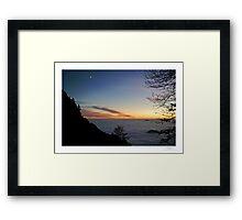 landscape at dusk Framed Print