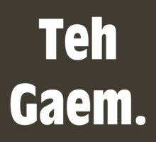 Teh Gaem Shirt (WHITE) by Merwok