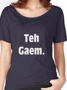 Teh Gaem Shirt (WHITE) Women's Relaxed Fit T-Shirt