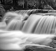 A Talybont waterfall by Steve  Liptrot