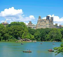 The Lake at Central Park by Imagery