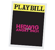 Hedwig Playbill Photographic Print