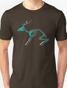 Skeletal deer - Green T-Shirt