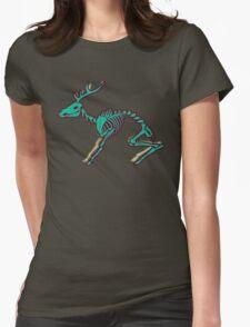 Skeletal deer - Green Womens Fitted T-Shirt