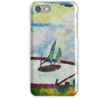 Pointillist Harbour iPhone Case/Skin