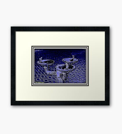 Water fountain Framed Print