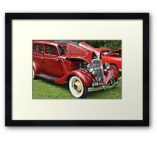 Spicy Red '34 Coup  Framed Print
