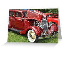 Spicy Red '34 Coup  Greeting Card