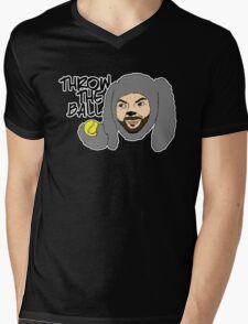 Throw the ball. Mens V-Neck T-Shirt