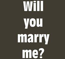 Marriage Proposal (WHITE) Unisex T-Shirt