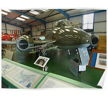 Gloster Meteor at Tangmere Poster