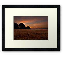 Sunrise in the Country Framed Print