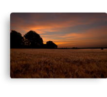Sunrise in the Country Canvas Print