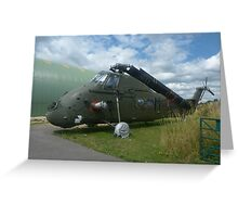 Wessex Helicopter at Tangmere Greeting Card