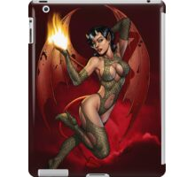 Sexy Devil Girl Holding a Flame For You by Al Rio iPad Case/Skin