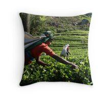 Tea Pickers Throw Pillow