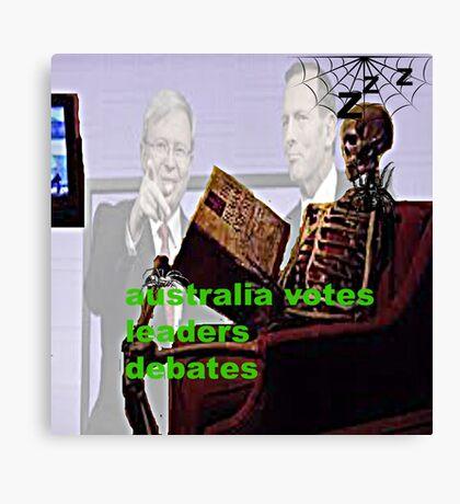 Australia votes leaders debates Canvas Print