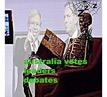Australia votes leaders debates Photographic Print