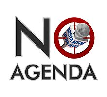 No Agenda Logo - Large Prints and Stretched Canvas Photographic Print