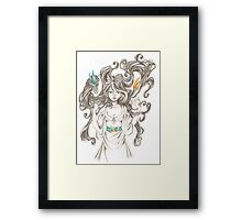 Dimond Dragons Framed Print