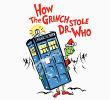 How the Grinch Stole Dr Who (on Light) Unisex T-Shirt