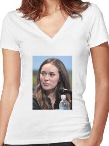 ALYCIA DEBNAM CAREY Women's Fitted V-Neck T-Shirt