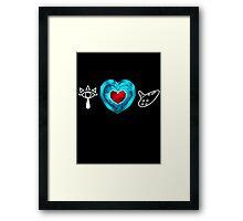 I <3 Ocarina Framed Print