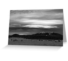 San Francisco Peaks From Williams Greeting Card