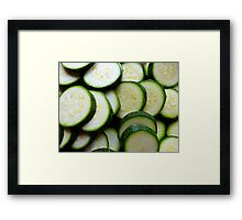 Courgettes Or Zucchini.........You Choose! Framed Print