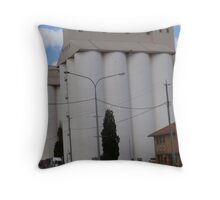 Peanut silos Throw Pillow