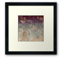 Ancient Bubbles Framed Print