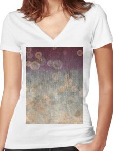 Ancient Bubbles Women's Fitted V-Neck T-Shirt