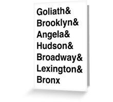 Manhattan Clan  Greeting Card