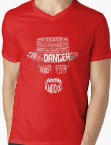 One Who Knocks Mens V-Neck T-Shirt