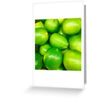 Green Fruit 4 Greeting Card