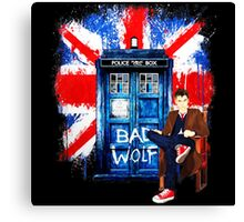 Police Box Bad Wolf Canvas Print