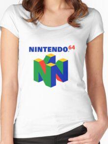 Nintendo 64 Logo HD Women's Fitted Scoop T-Shirt
