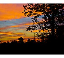 Under An Orange Sky Photographic Print