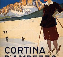 Vintage poster - Cortina d'Amprezzo by mosfunky